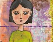 Gabby - an original mixed media painting