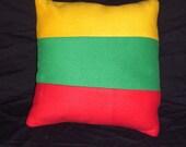 Lithuanian flag pillow