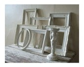 FRAME SET - Shabby Chic - Frame grouping - Home Decor -  Gallery Frames - Open frames - Upcycled - Vintage  - French Provincial  - Cottage