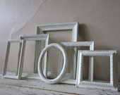 Frame Set - French Country - Frame grouping - Shabby and Chic  - Cottage Home decor - Paris Chic  - Vintage - wall decor