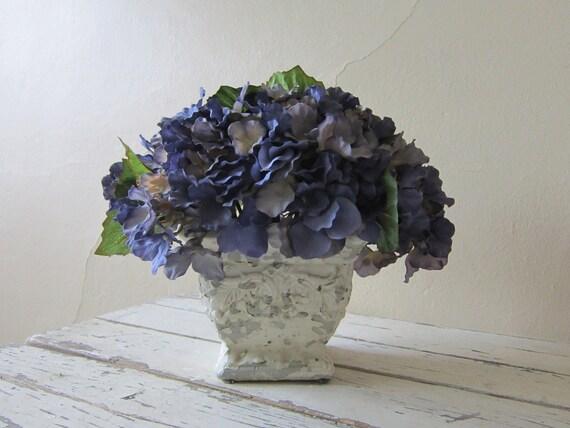 Flower Arrangement  - Silk florals - Cottage chic home decor