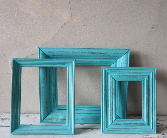 Frame Grouping -  frame set - Cottage Chic - Shabby and Chic - Vinage Home decor - wall decor