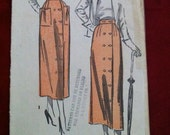 1949 Advance Misses Wrap Skirt Pattern Waist 26 Hip 35