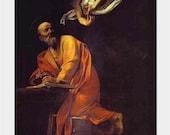 Caravaggio - St Matthew and the Angel