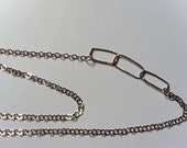 Sterling Rectangular Linked  necklace (Reserved for Ann)
