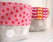Fabric Basket - Set of two - Mad About Pink for your Easter eggs