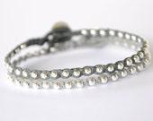 sterling silver beaded bracelet SET