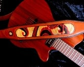 Limited Edition Leather Guitar Strap - FREE EXPRESS SHIPPING