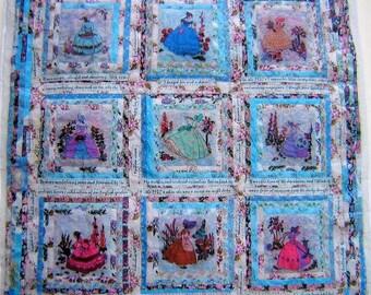 Quilt... .Miniature quilt.. Crinoline Ladies