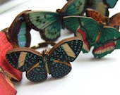 Butterfly ring, adjustable, choose color, shape, wooden, 4 choices, by kadootje77 on etsy