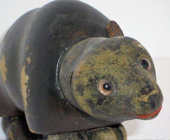 Vintage Schoenhut Black Bear, Humpty Dumpty Circus, Toy, Art, Home