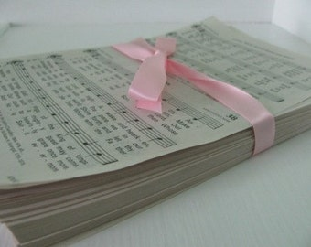Loose Hymnal pages for a DIY upcycled paper project- approximately 250 pages