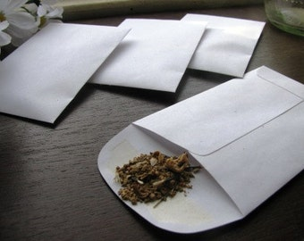100 White WILDFLOWER SEED FILLED envelope favors- butterfly and hummingbird mix