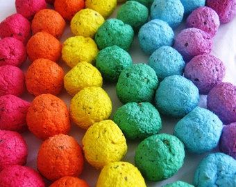 600 Rainbow seed bombs- 6 color combo