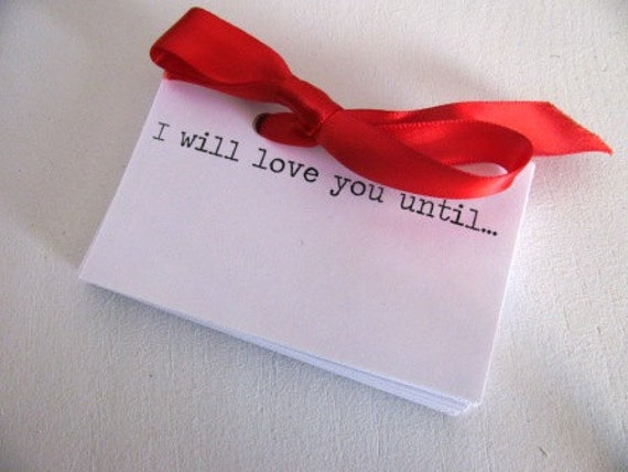 Love letter Kit- 50 small cards with romantic saying intro