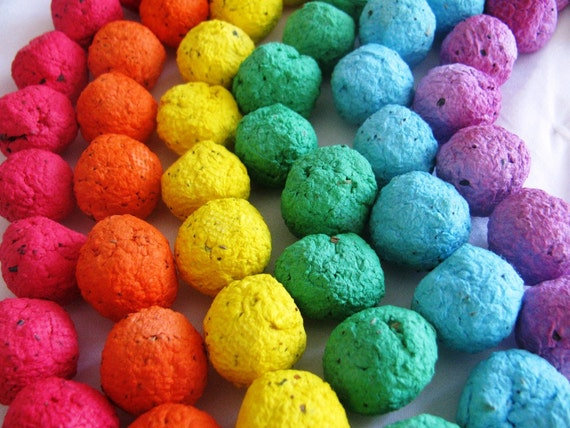 600 Rainbow seed bombs- 6 color combo