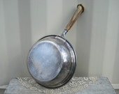 Silver Pan Staghorn Handle Manning Bowman & Co 1800's Rustic Kitchen Decor Antique Cookware Woodland Deer Antler