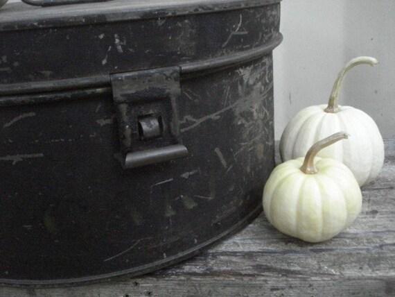 Ghostly Black Antique Cake Tin