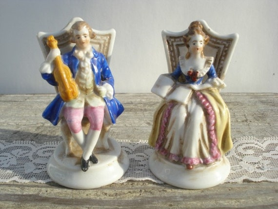 French Couple Figurines Made in Occupied Japan