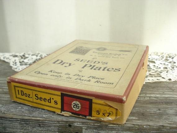 Seed's Dry Plates 5x7 Eastman Kodak Co.