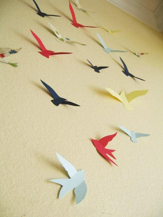 3d Wall Decor Birds : Birds d wall decor nursery boys room