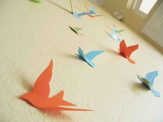 3d Wall Decor Birds : Items similar to birds d wall decor art