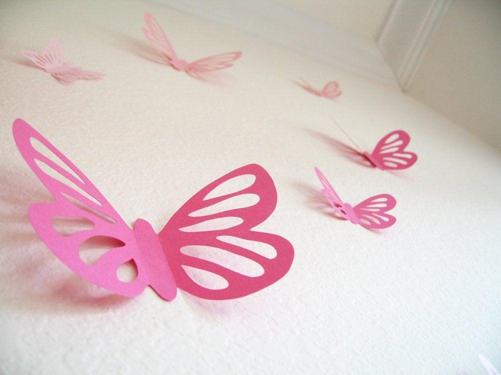 20 3d wall butterflies 3d butterfly wall art wall decor for 3d butterfly decoration