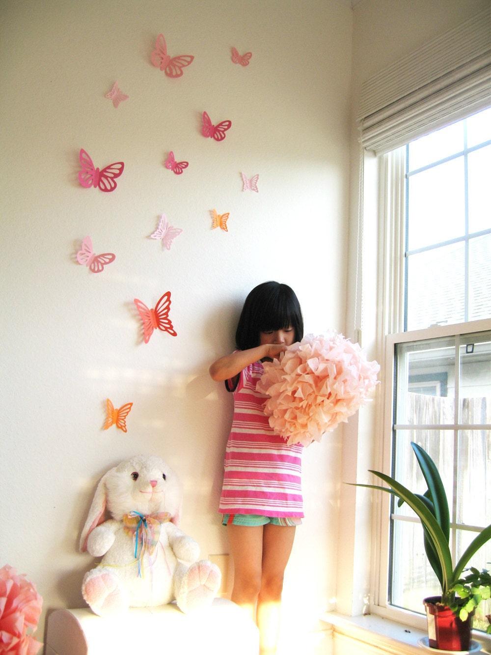 3d Wall Art For Contemporary Homes: 10 3D Wall Butterflies 3D Butterfly Wall Art Wall Decor