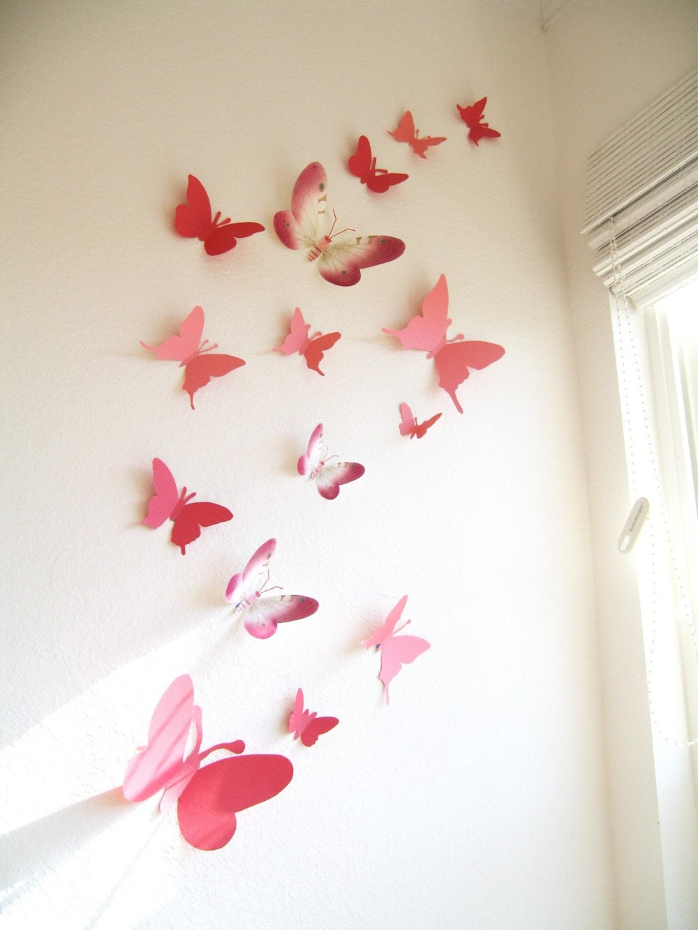 15 butterflies paper wall decor hanging decal 3d for 3d butterfly decoration