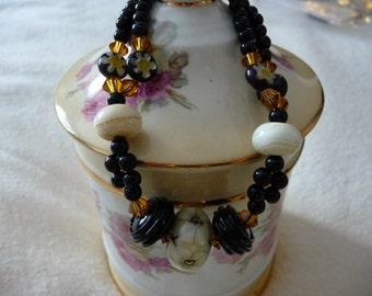 Lampwork  Swarovski  Bracelet
