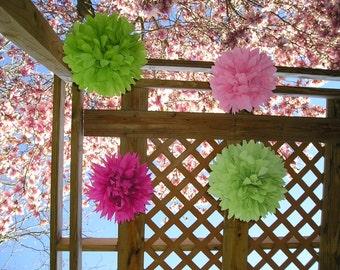 Wedding sampler 3 Poms - Get 4TH One FREE - diy|bridal shower|birthday party|baby shower|nursery|princess|Handmade|American made materials