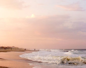 Beach Photography New Jersey Shore Pastel Pink 10x10