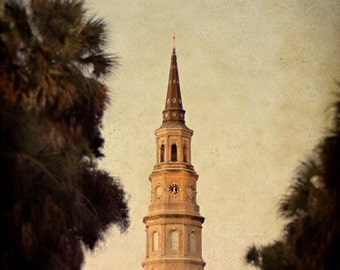 Architectural Photography St. Philip's Steeple Charleston South Carolina 8x12