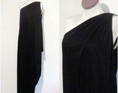 HOLD for styleglory.....Vintage Bill Tice NWT 70s Black Grecian Goddess One Shoulder Disco Maxi Dress Small