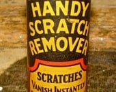 Vintage Handy Scratch Remover Container Tube / Advertising / Display