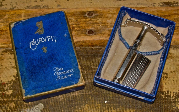 Antique Vintage CURVFIT The Woman's Razor Shaving Razor in Original Box