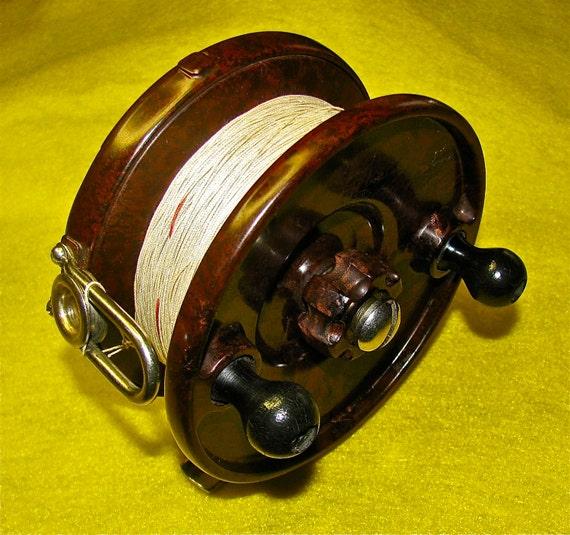 Vintage GYREX Bakelite Fishing Reel Made in England