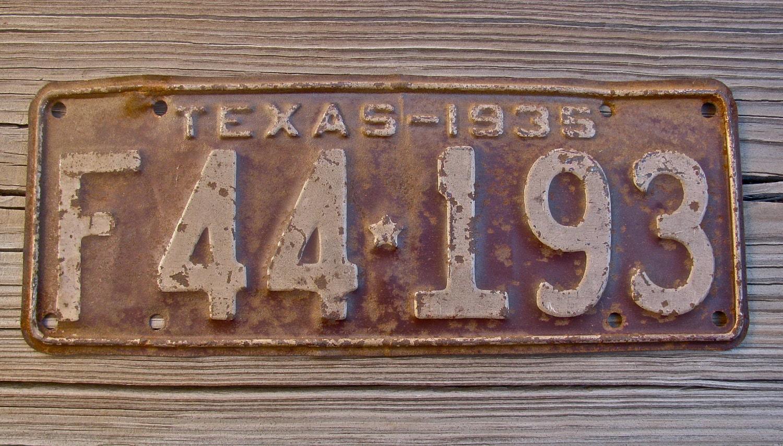 Vintage Texas License Plate 16