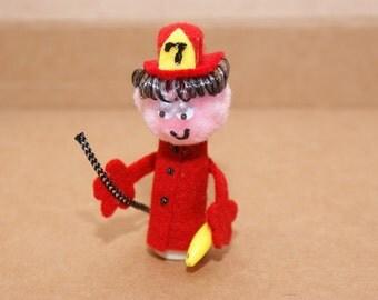 Fireman Finger Puppet