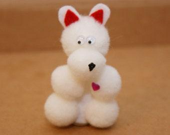 Valentine's Bear Finger Puppet