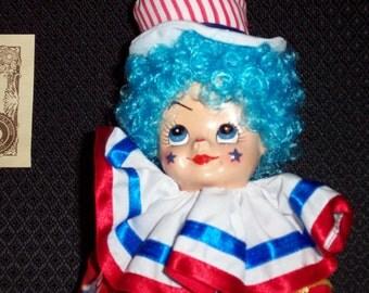 Vintage Brinn's July Calendar Clown-Red, White And Blue-1986-NIB-MINT