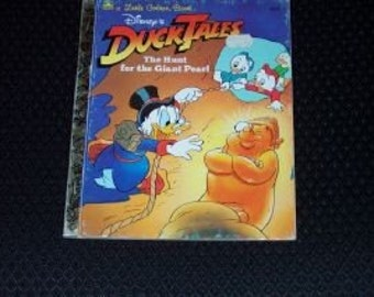 Vintage Little Golden Book-Duck Tales-The Hunt for the Giant Pearl-1987