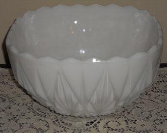 Vintage Milkglass Punch/Fruit Bowl