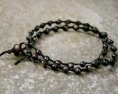 Men's Shell Double Wrap Bracelet Beach Jewelry For Men and Women