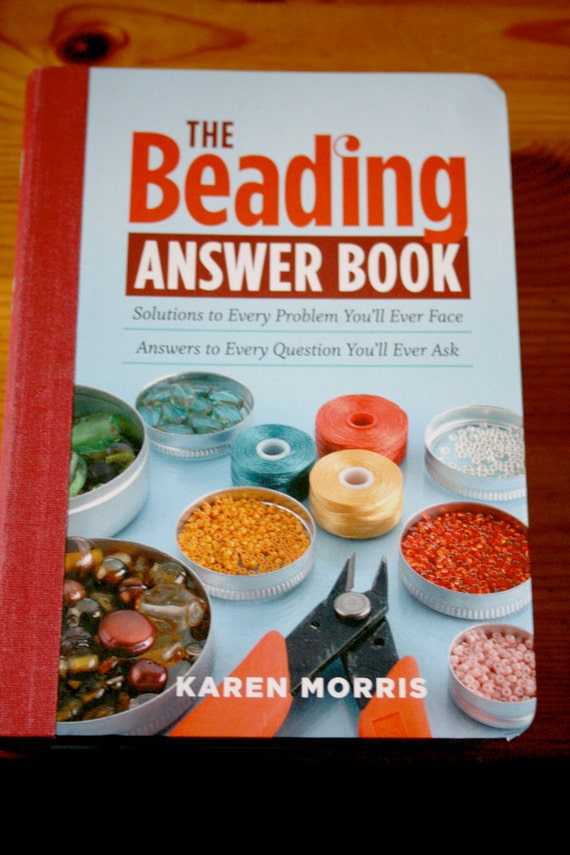 """Used Book Destash """"Beading Answer Book"""" Beads Wire Work"""