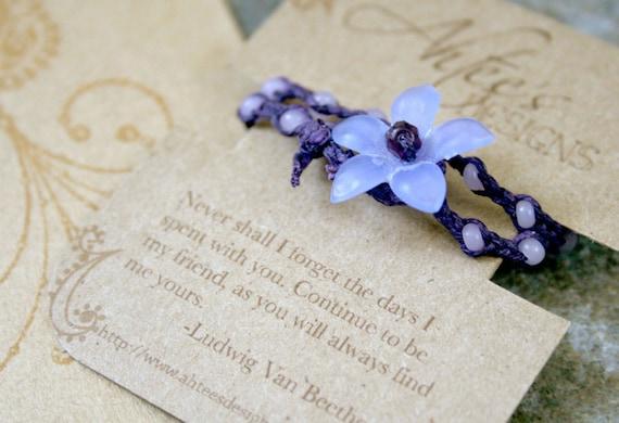 Friendship Bracelets- Purple and Lavender- Petite