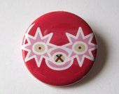 1.5inch button Lucha Llama- Tomate Picante