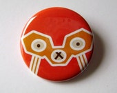 1.5 inch button Lucha Llama- Viga de Flash