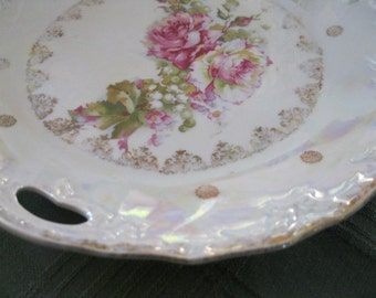 Beautiful 3 Crown China Plate with Handles from Germany