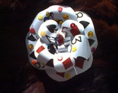 hearts, diamonds, clubs, and spades playing card flower hair clip